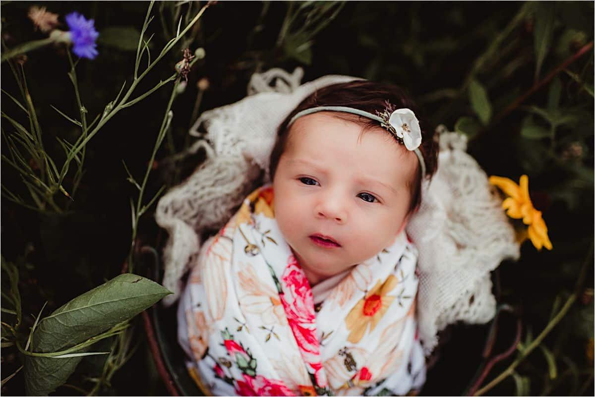 Newborn Girl in Wrap