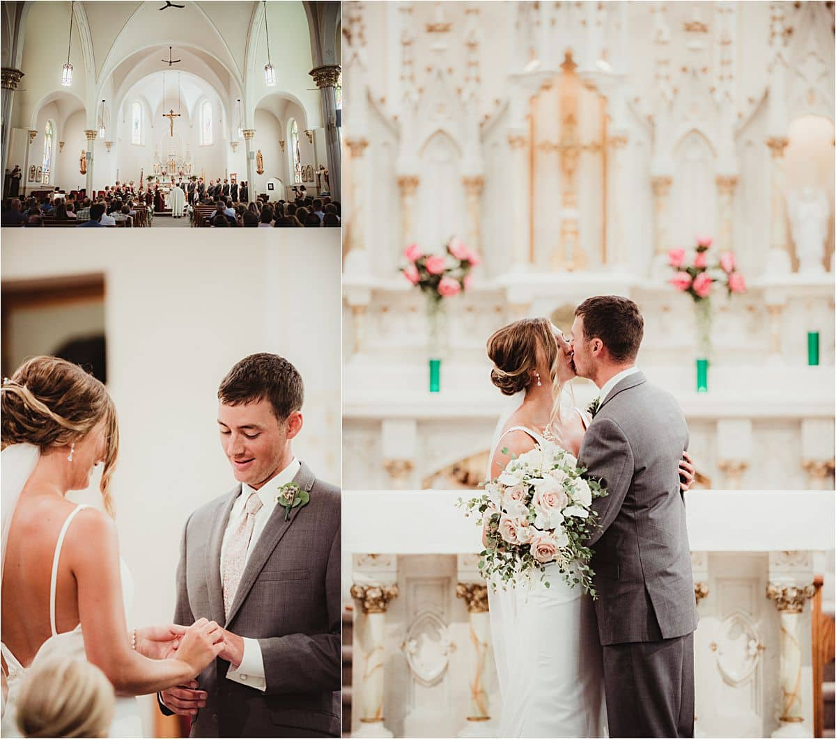 Cranberry Mauve and Blush Church Wedding Ceremony
