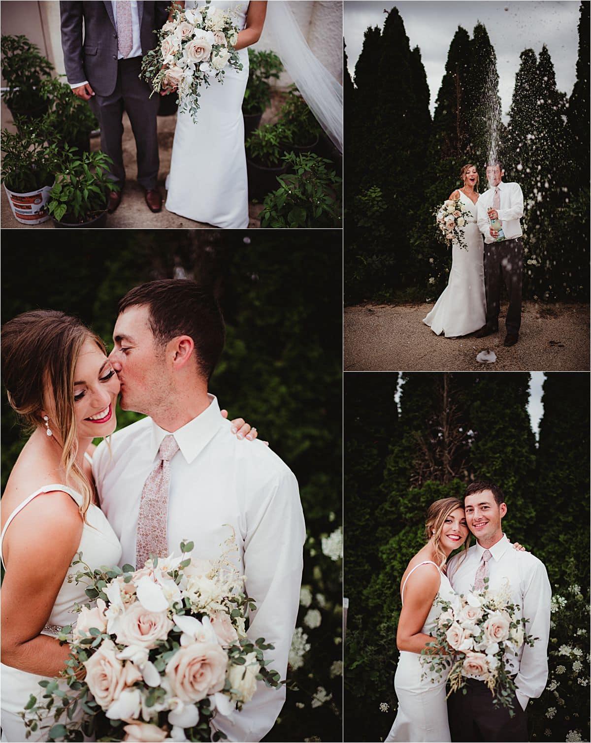 Cranberry Mauve and Blush Color Palette Bride and Groom Portraits