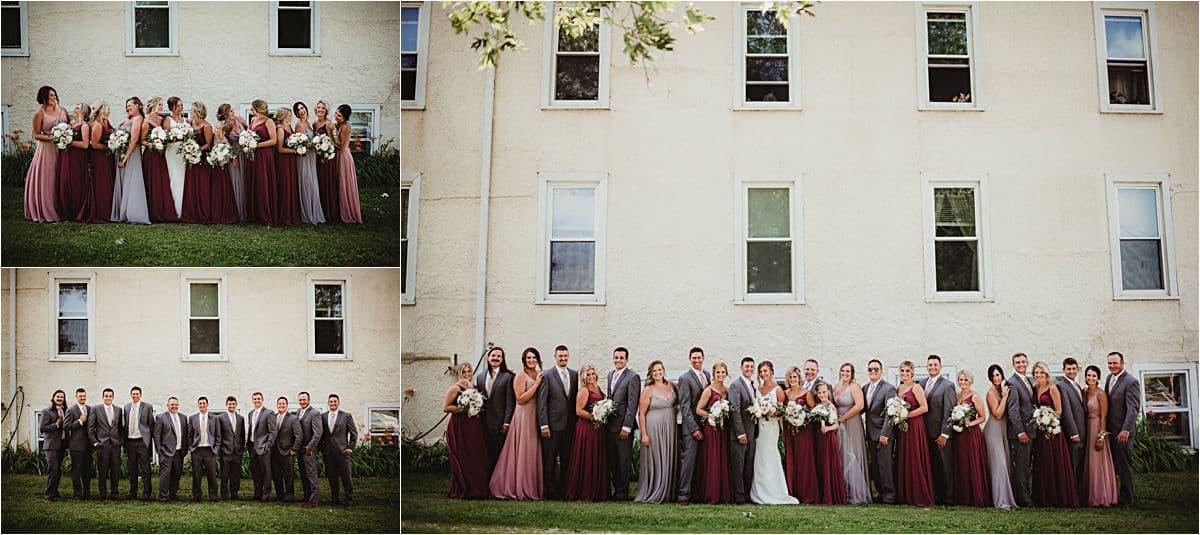 Cranberry Blush Mauve Wedding Palette Bridal Party