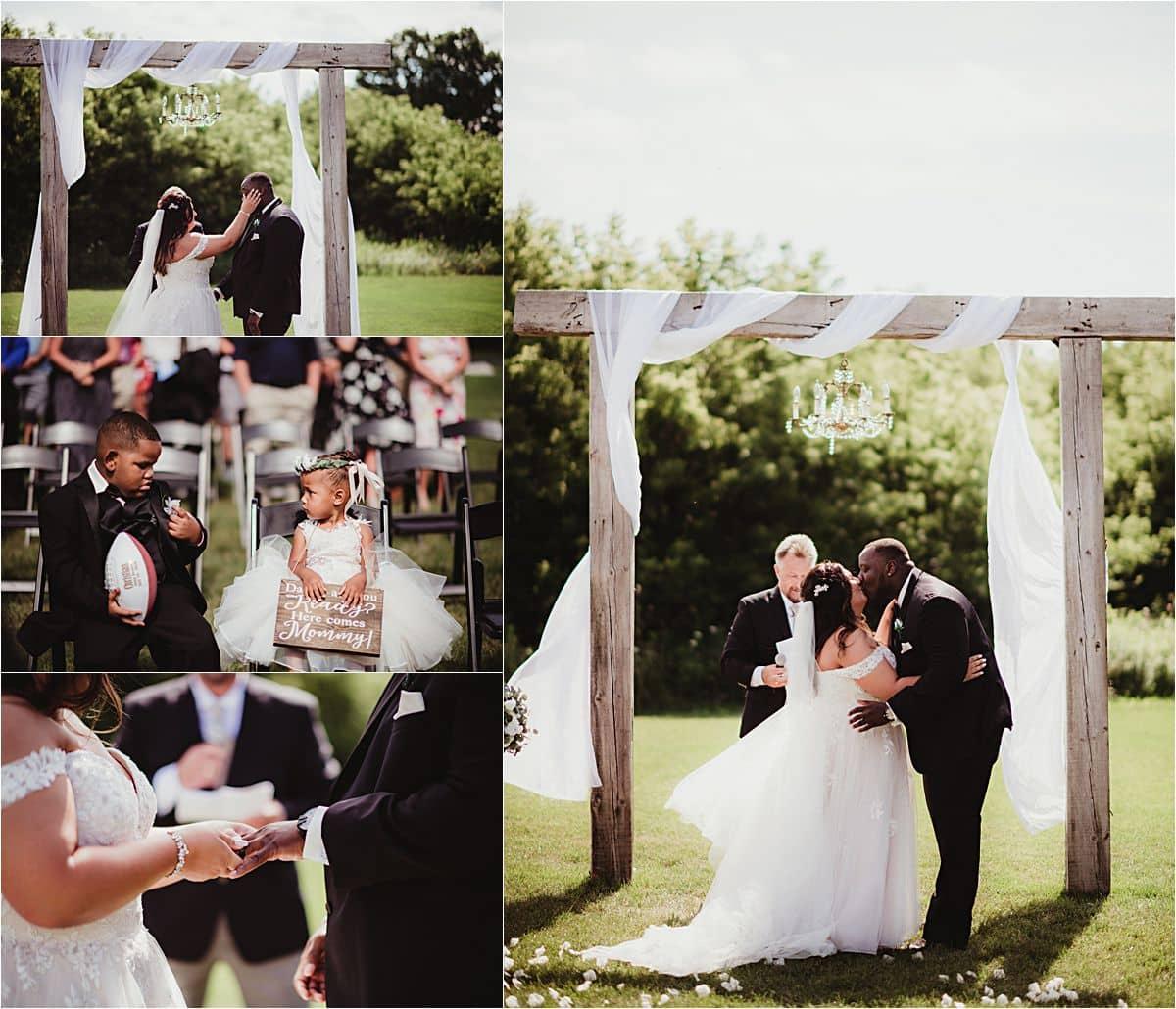 Outdoor Wisconsin Summer Wedding Ceremony