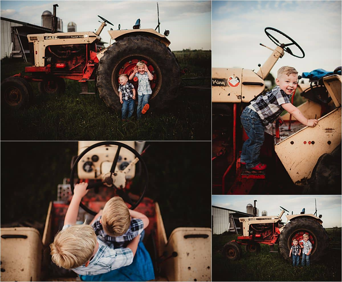Brothers on Tractor