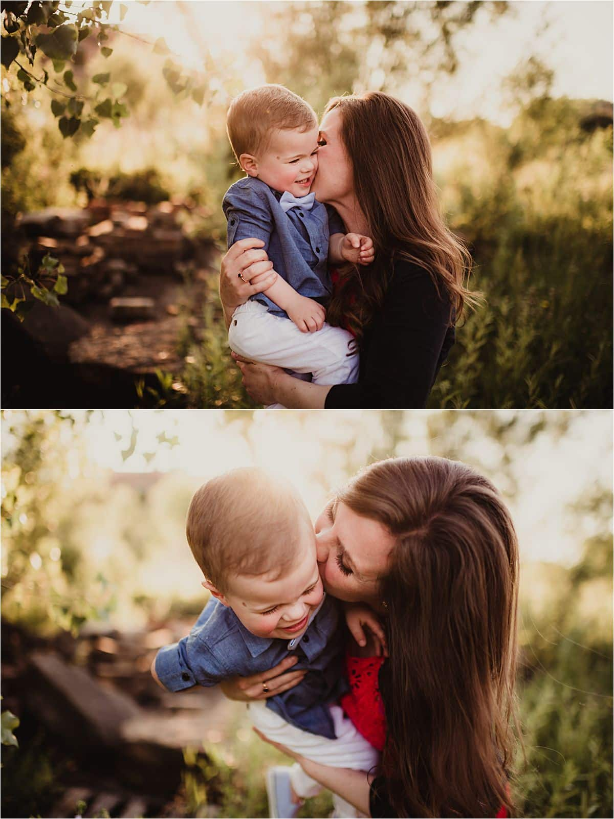 Summer Family Session Mama with Son