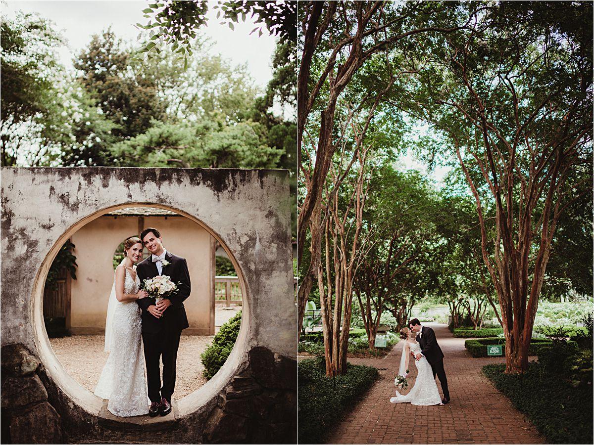 Garden Wedding Bride and Groom Portraits