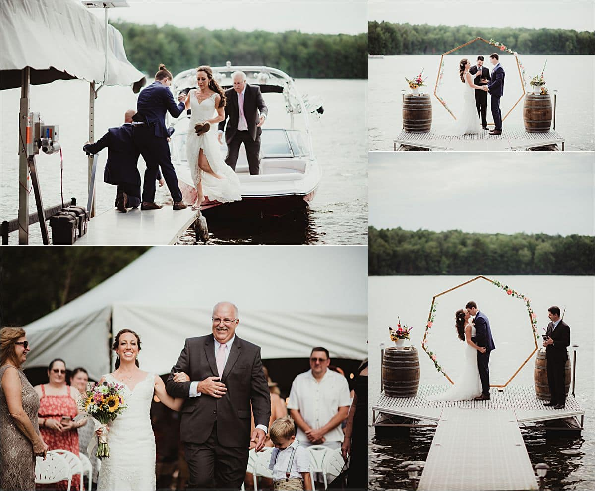 Lakefront Private Residence Wedding Ceremony