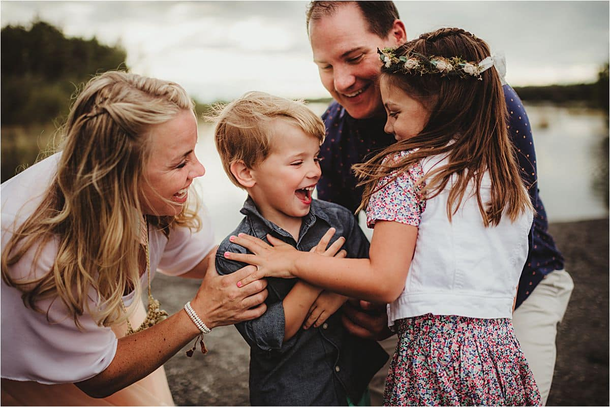Family Laughing