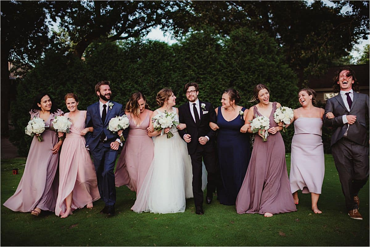 Mauve and Navy Wedding Wedding Party