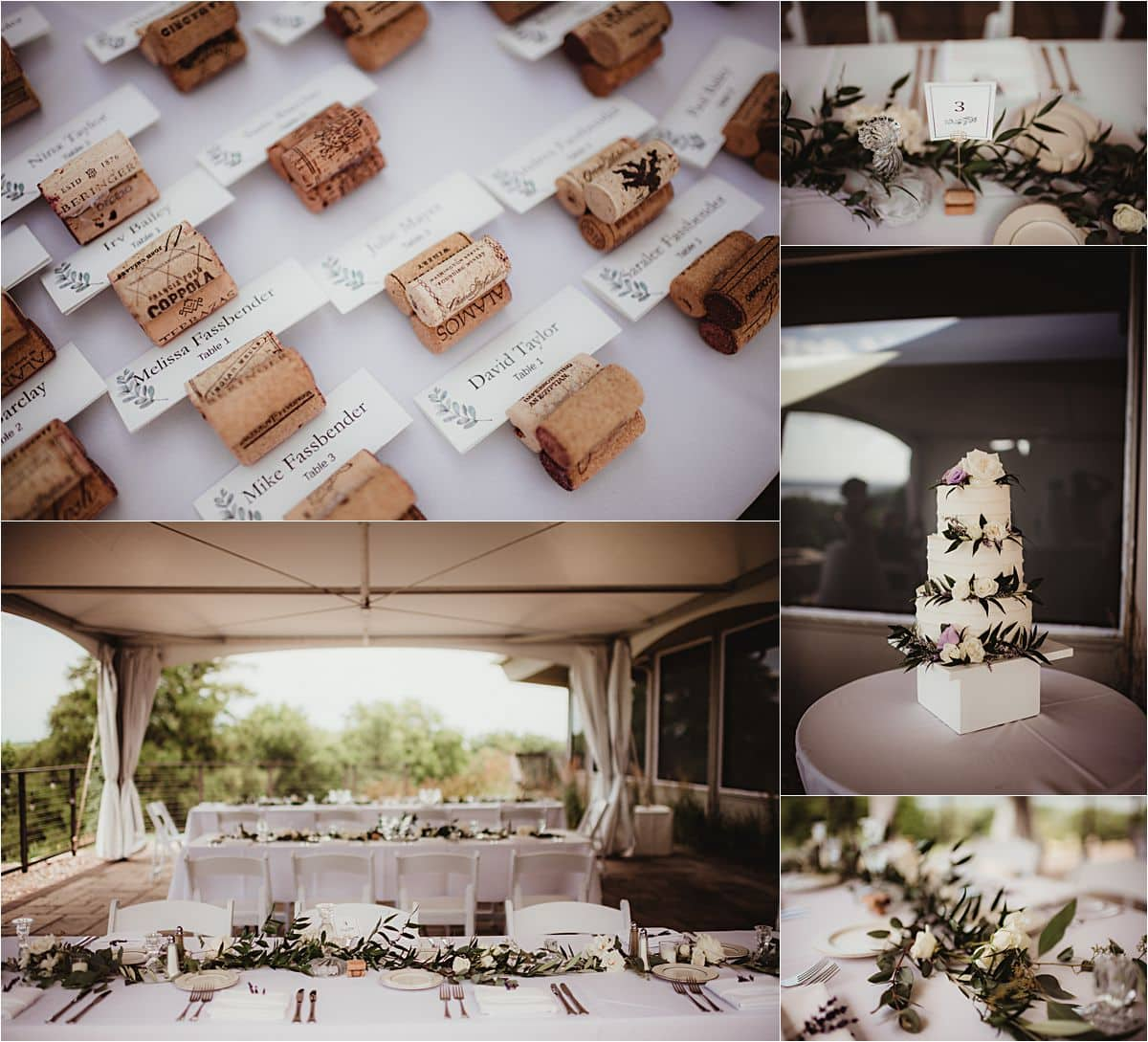 Mauve and Navy Wedding Reception Details