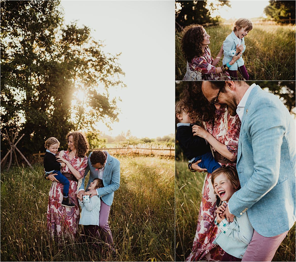 Collage Family in Field