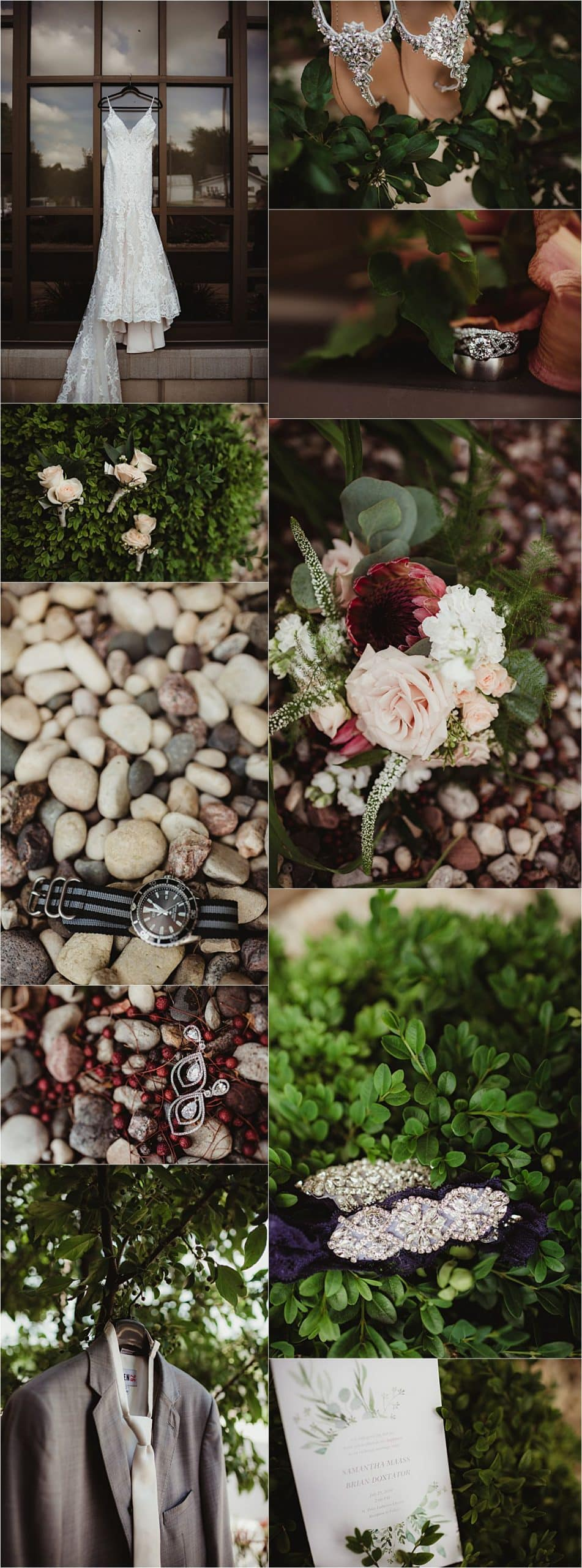 Blush and Ivory Summer Wedding Getting Ready Details