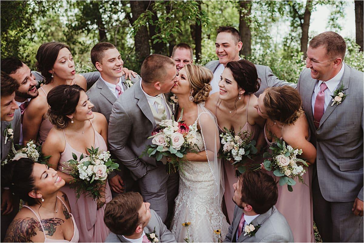 Blush and Ivory Summer Wedding Wedding Party
