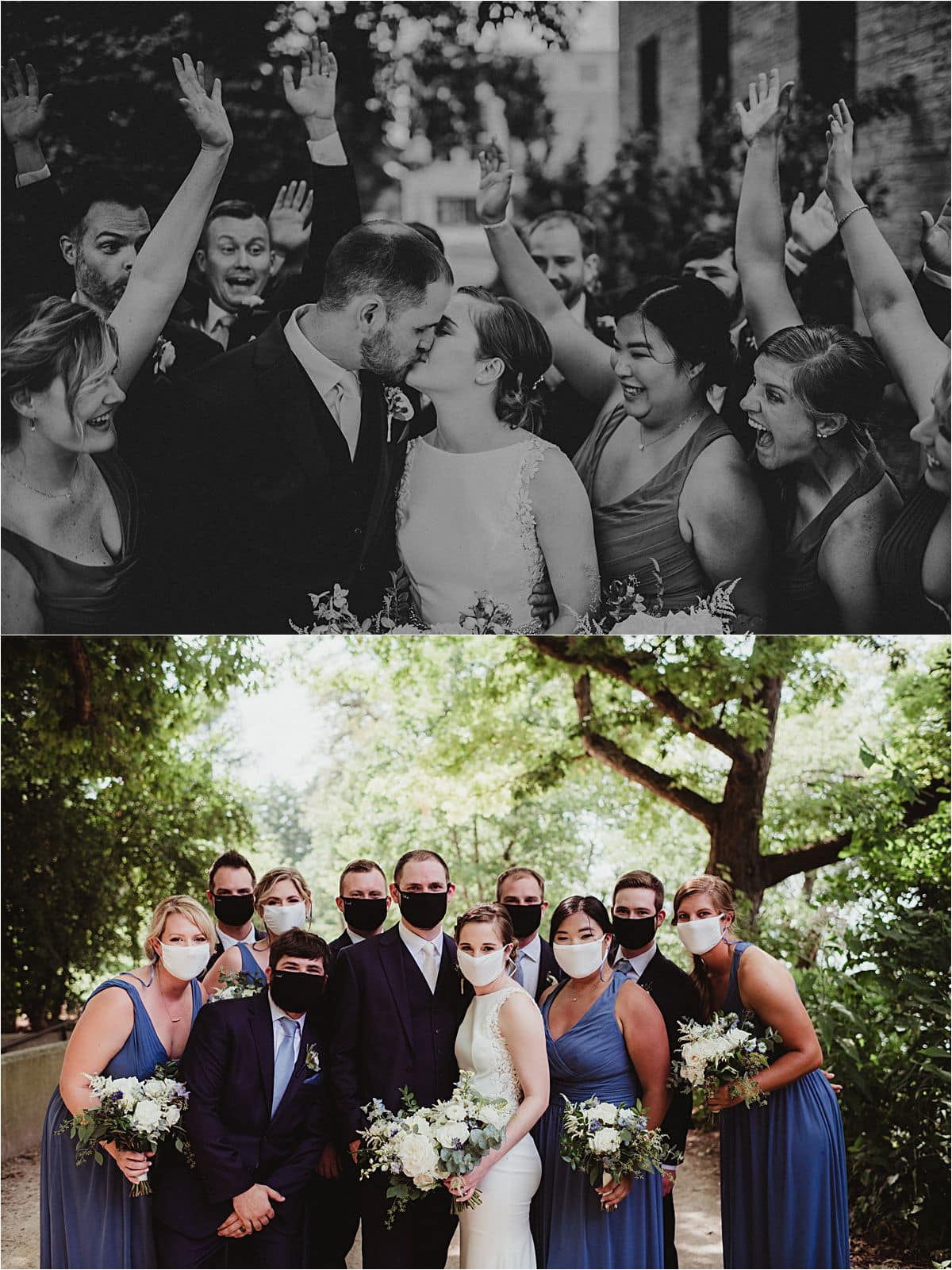 Light Blue and Sage Wedding Party