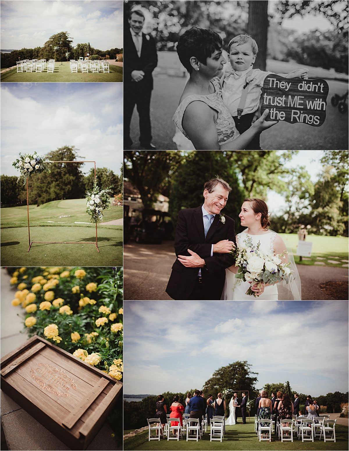 Light Blue and Sage Wedding Outdoor Ceremony