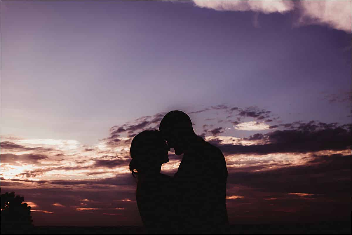 Bride Groom Silhouette Sunset