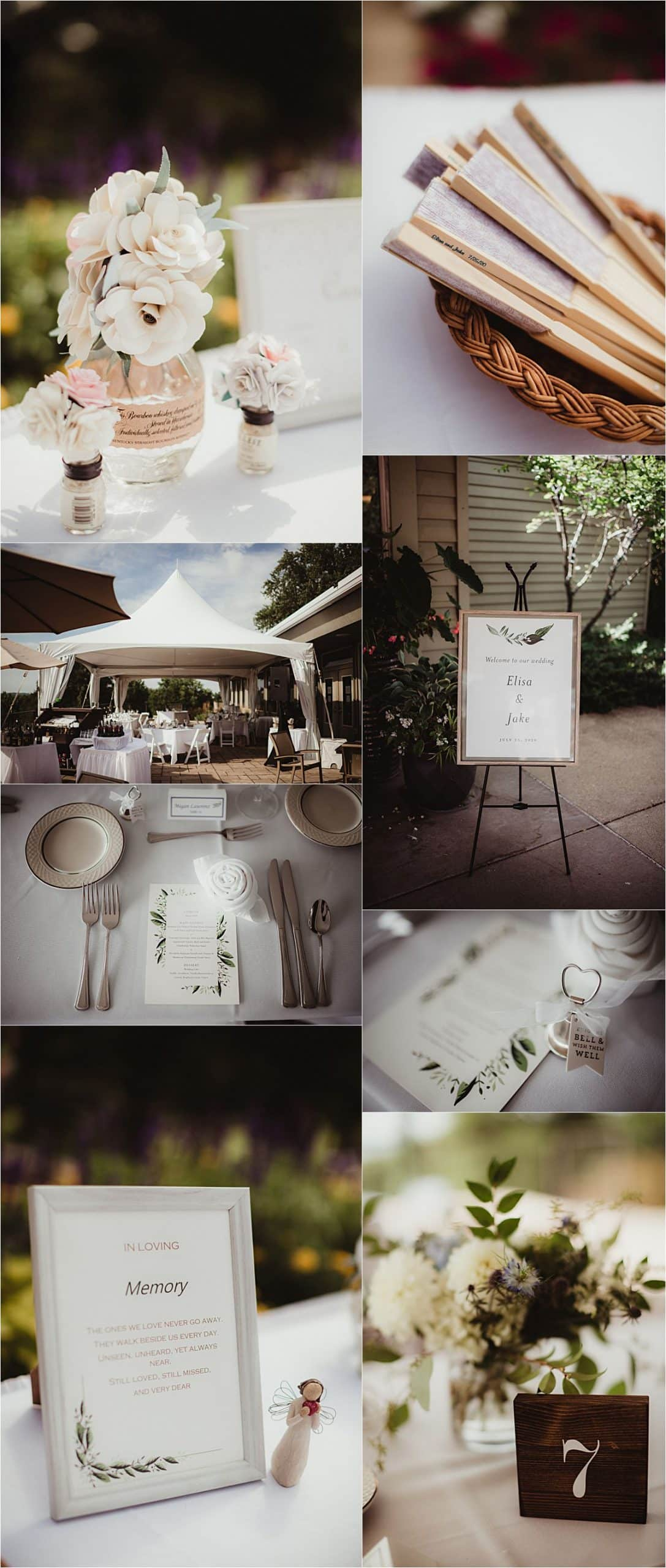 Light Blue and Sage Wedding Reception Details