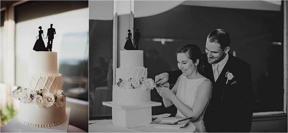 Light Blue and Sage Wedding Cake