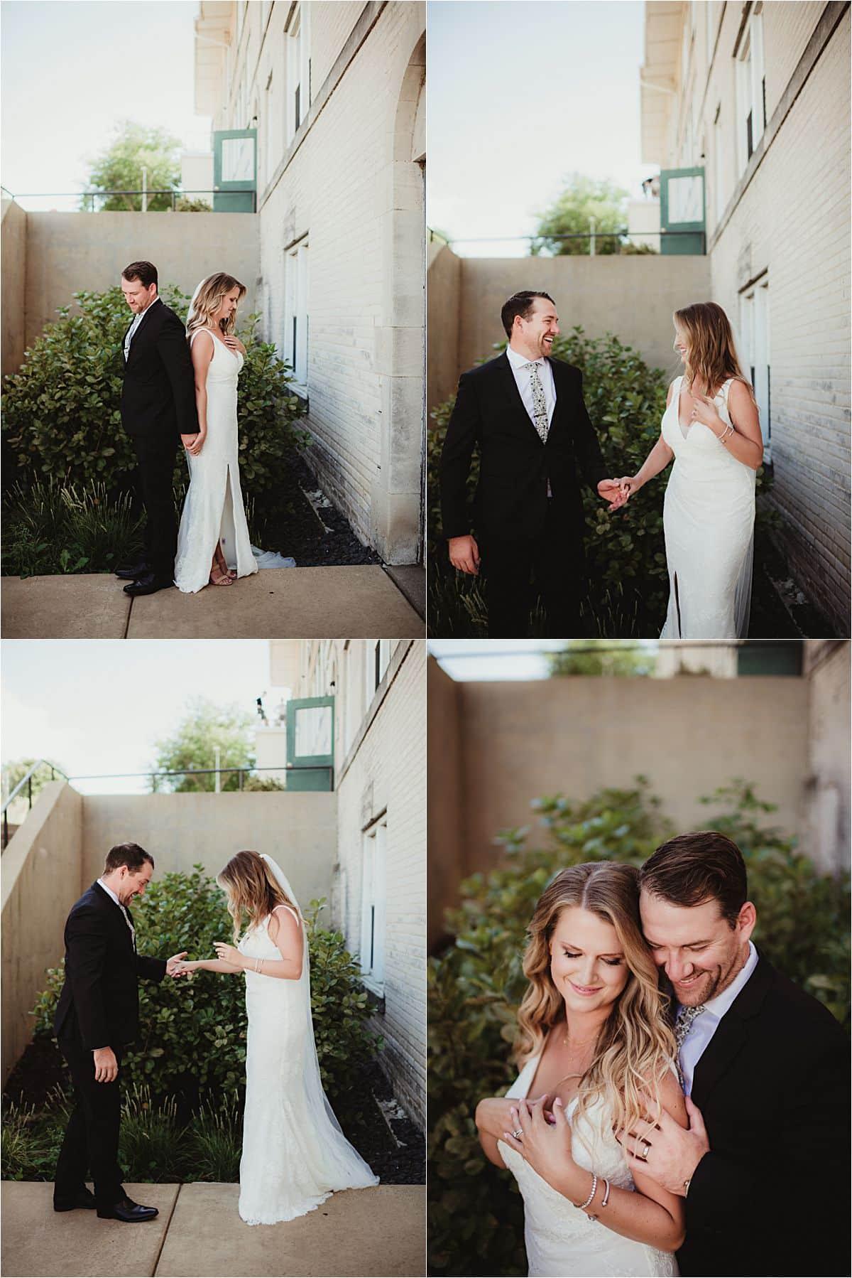 Intimate Outdoor Summer Wedding First Look