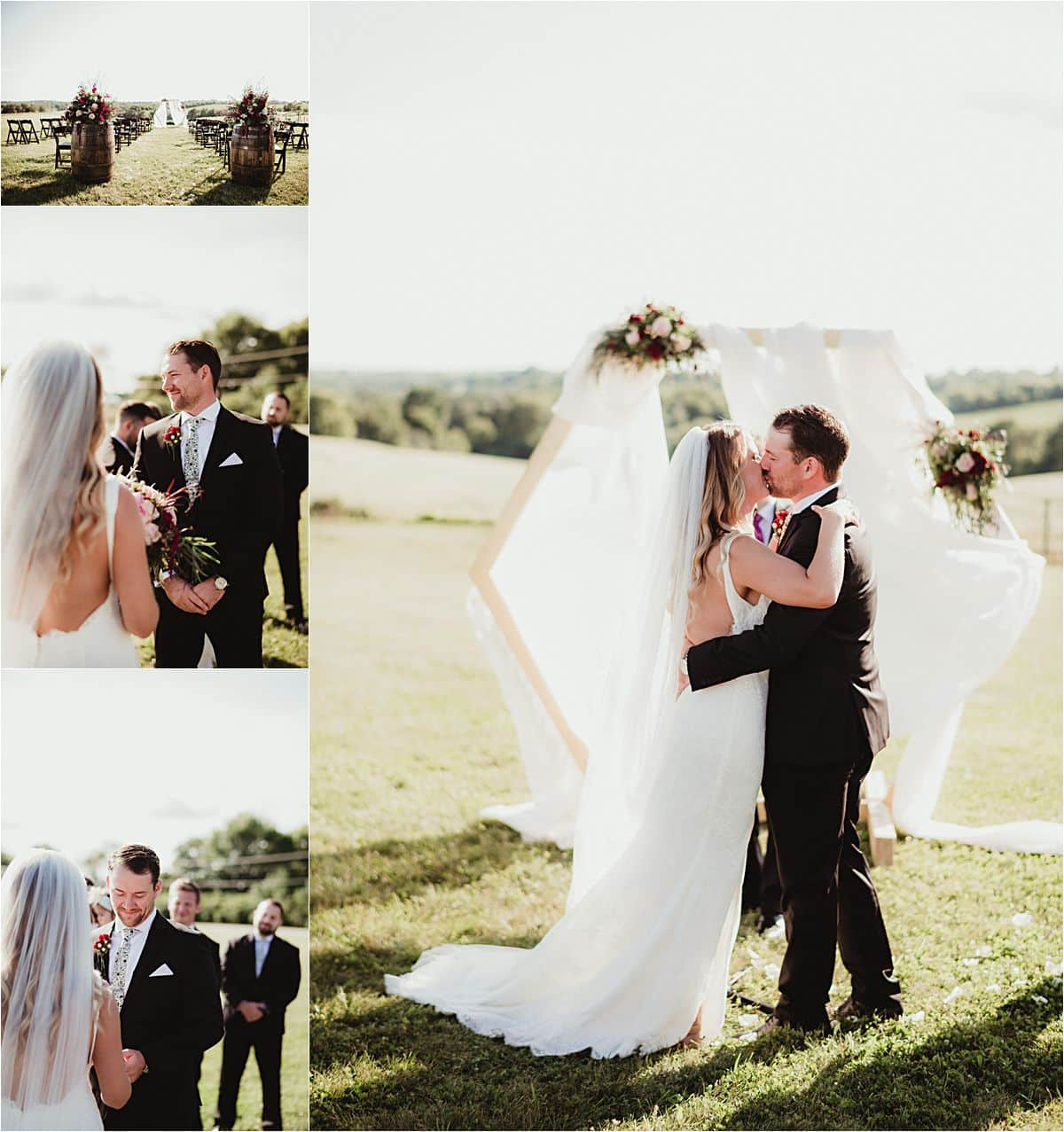 Intimate Outdoor Summer Wedding Ceremony
