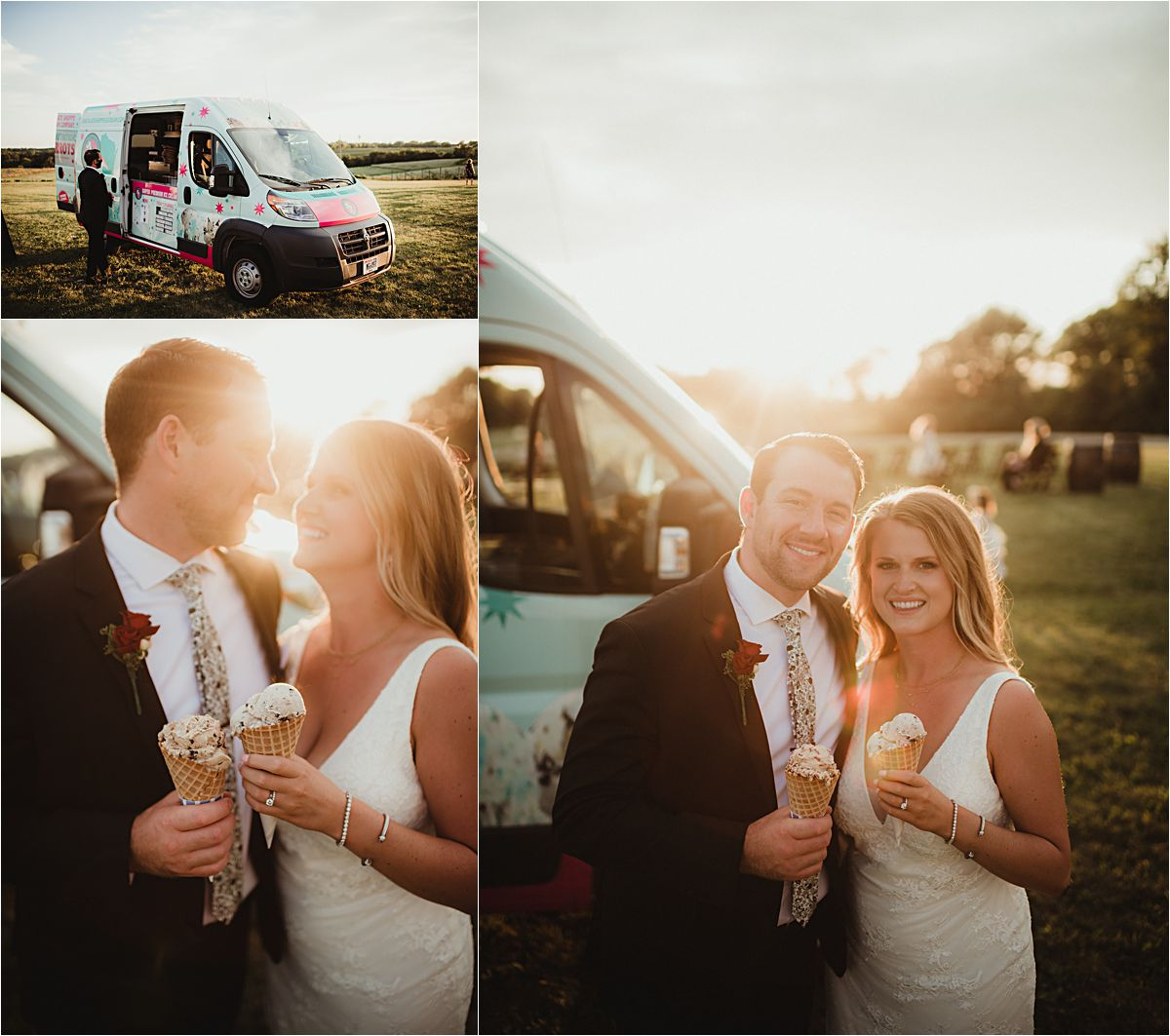 Bride and Groom Ice Cream Truck