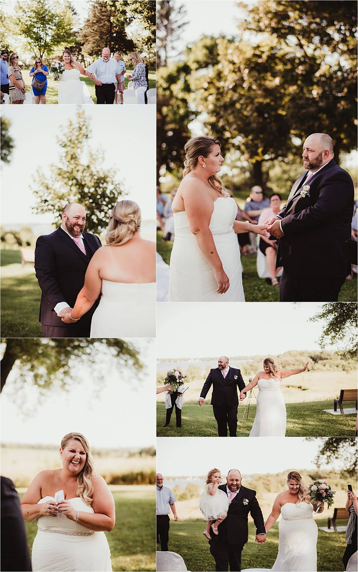 Outdoor Summer Microwedding Ceremony at Park