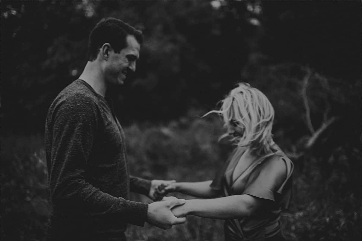 Black and White Image Couple Holding Hands