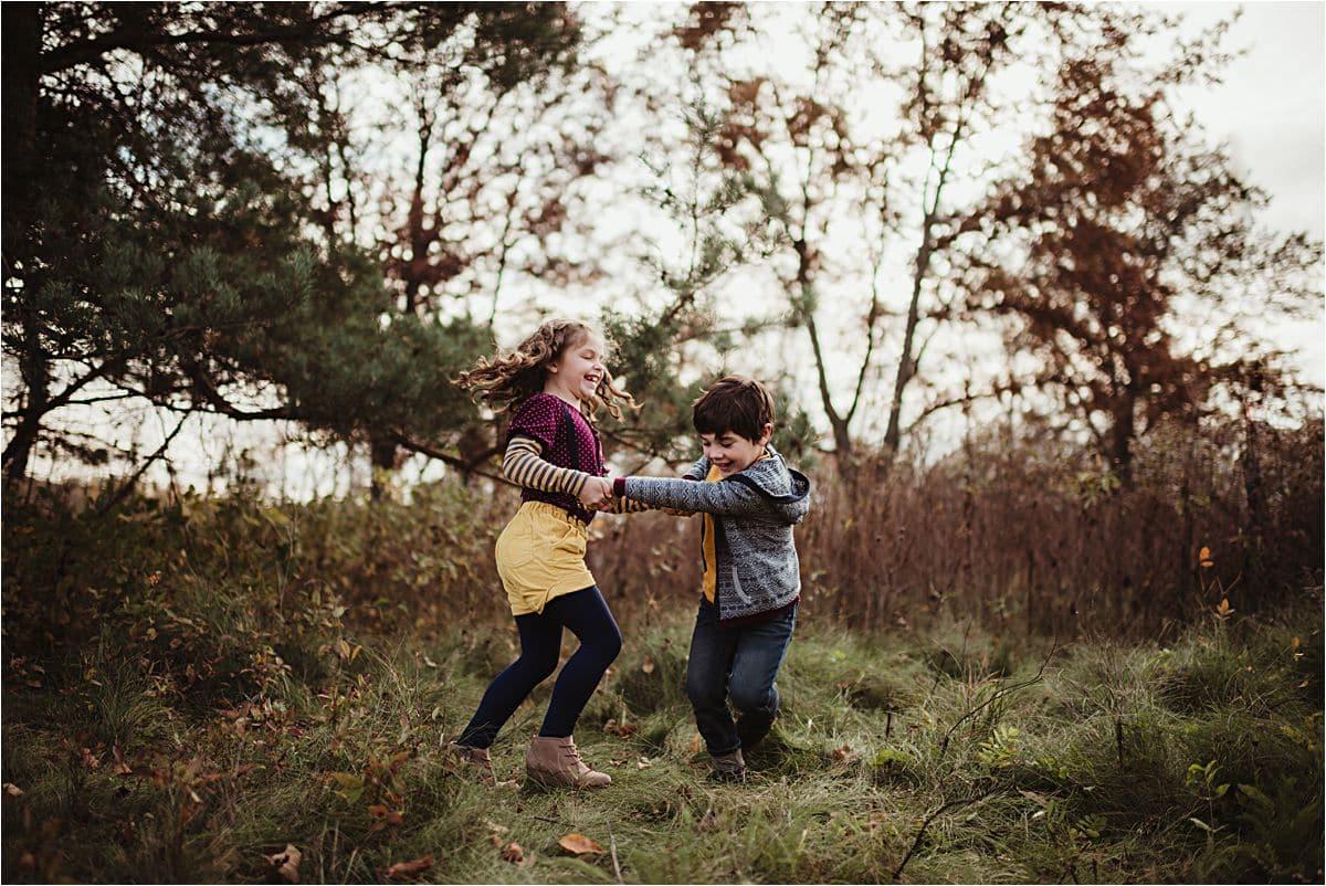 Siblings Dancing