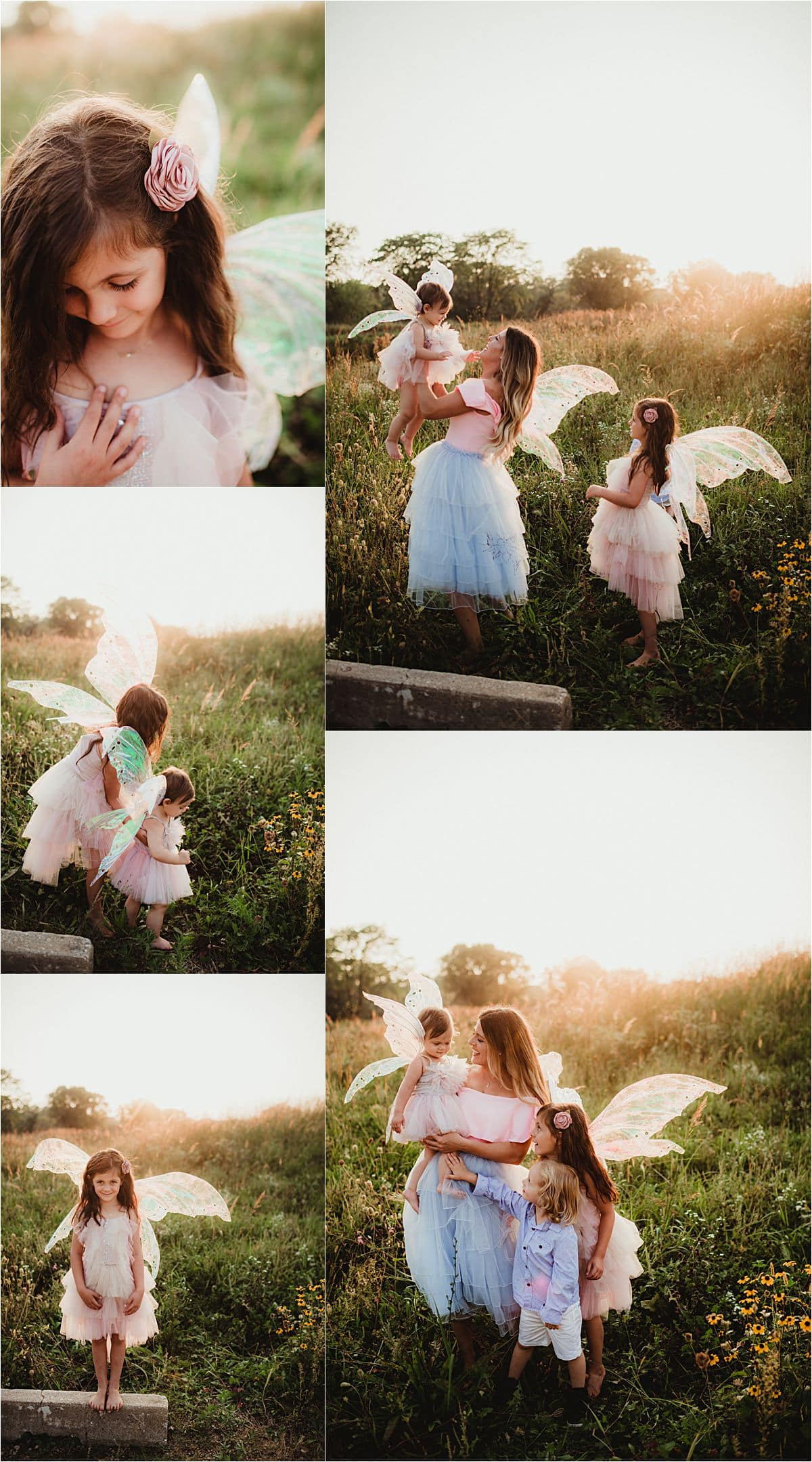 Siblings Fairy Family Session Collage Sisters