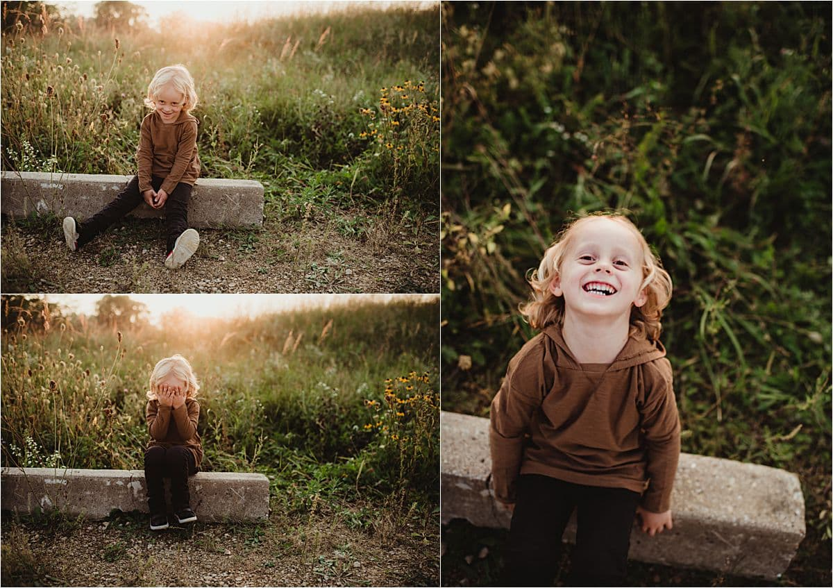 Collage Little Boy Smiling