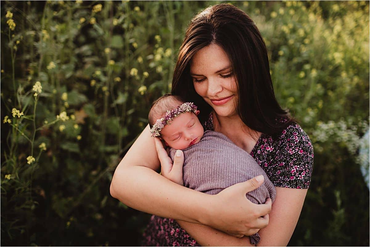 Mama Holding Newborn