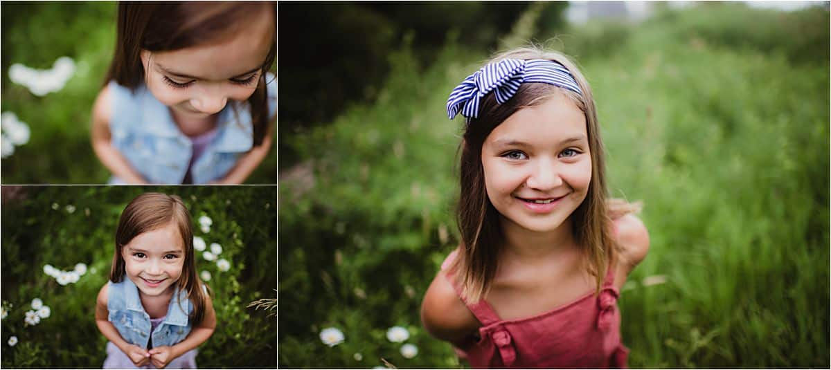 Sunset Summer Family Session Close Ups Daughters