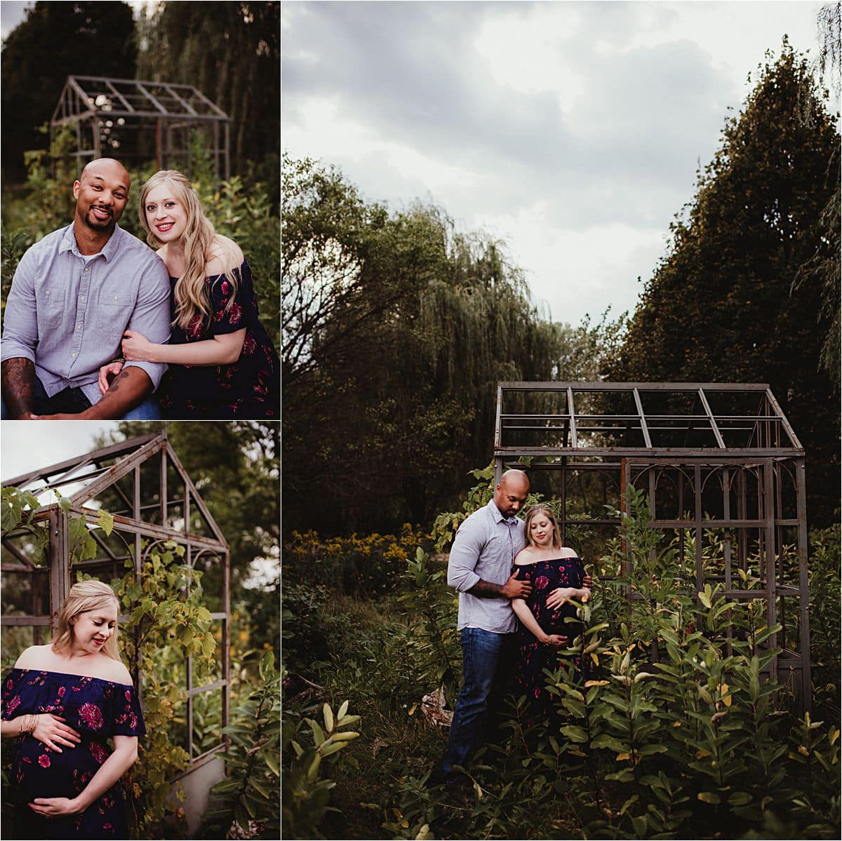 Moody Skies Maternity Session Couple by Greenhouse