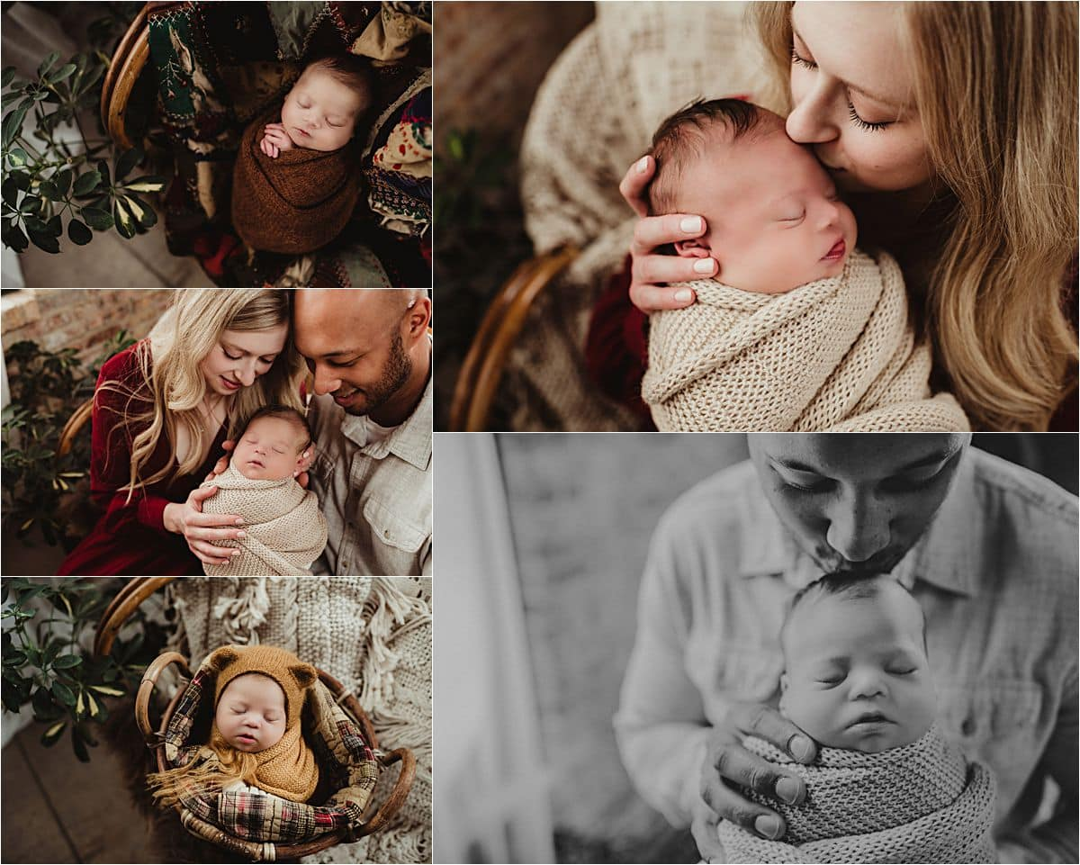 Collage Parents with Newborn