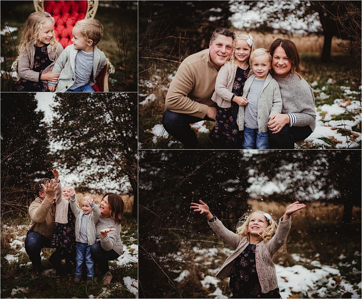Collage Family with Snow