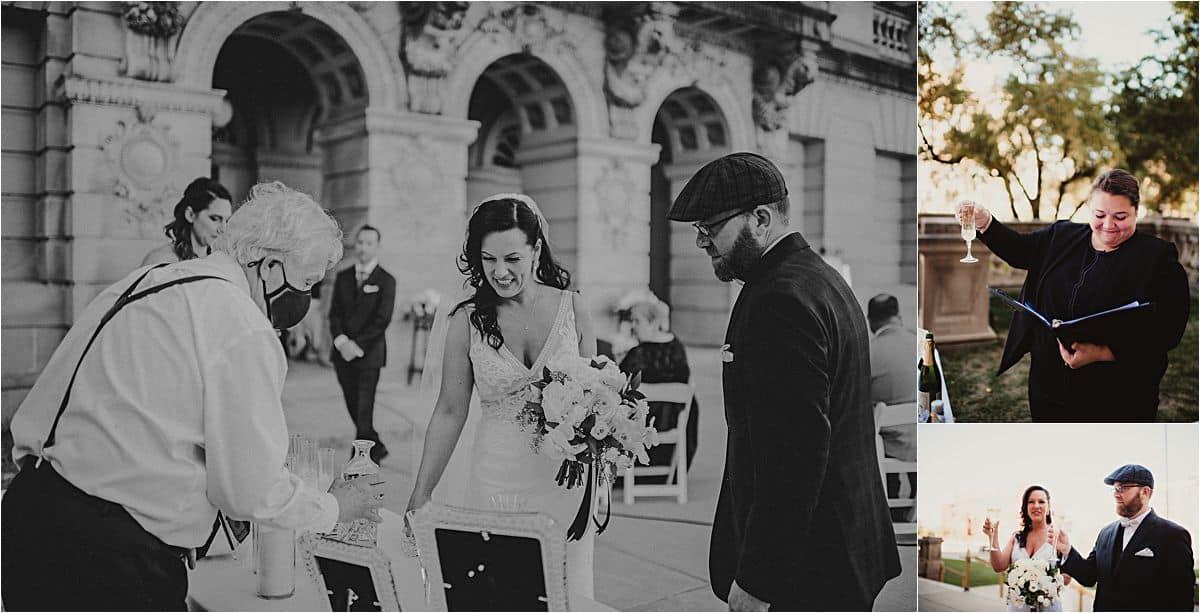 Glamorous Micro Wedding Post Wedding Cheers