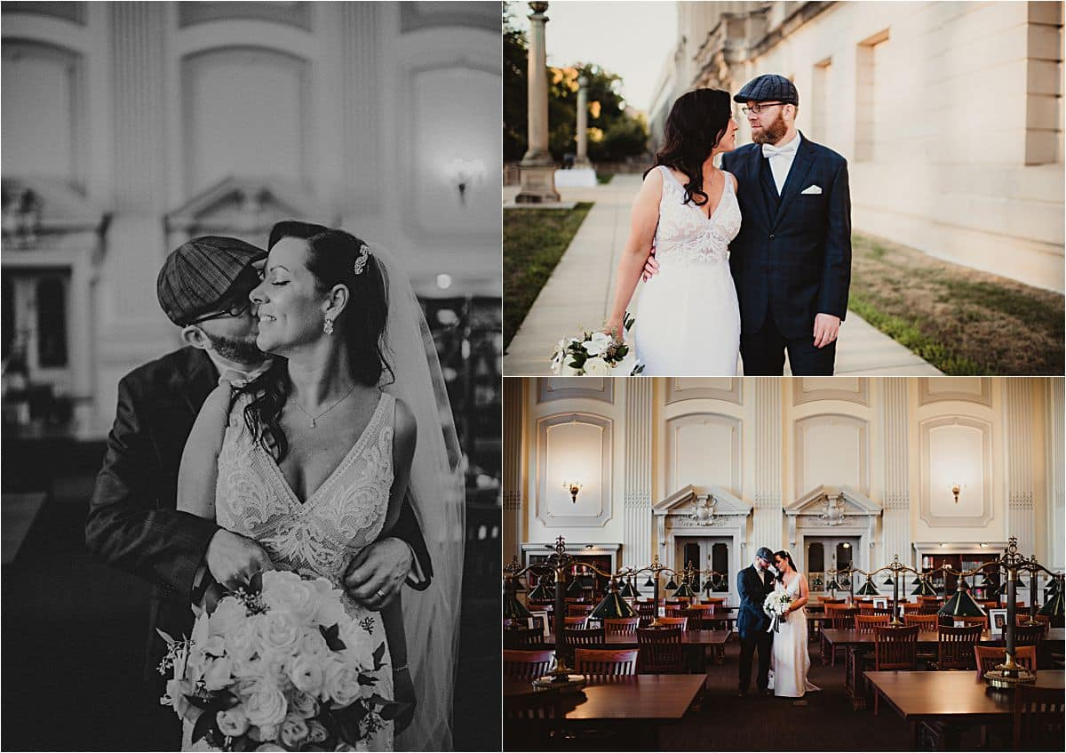 Glamorous Micro Wedding Bride and Groom WI Historical Society