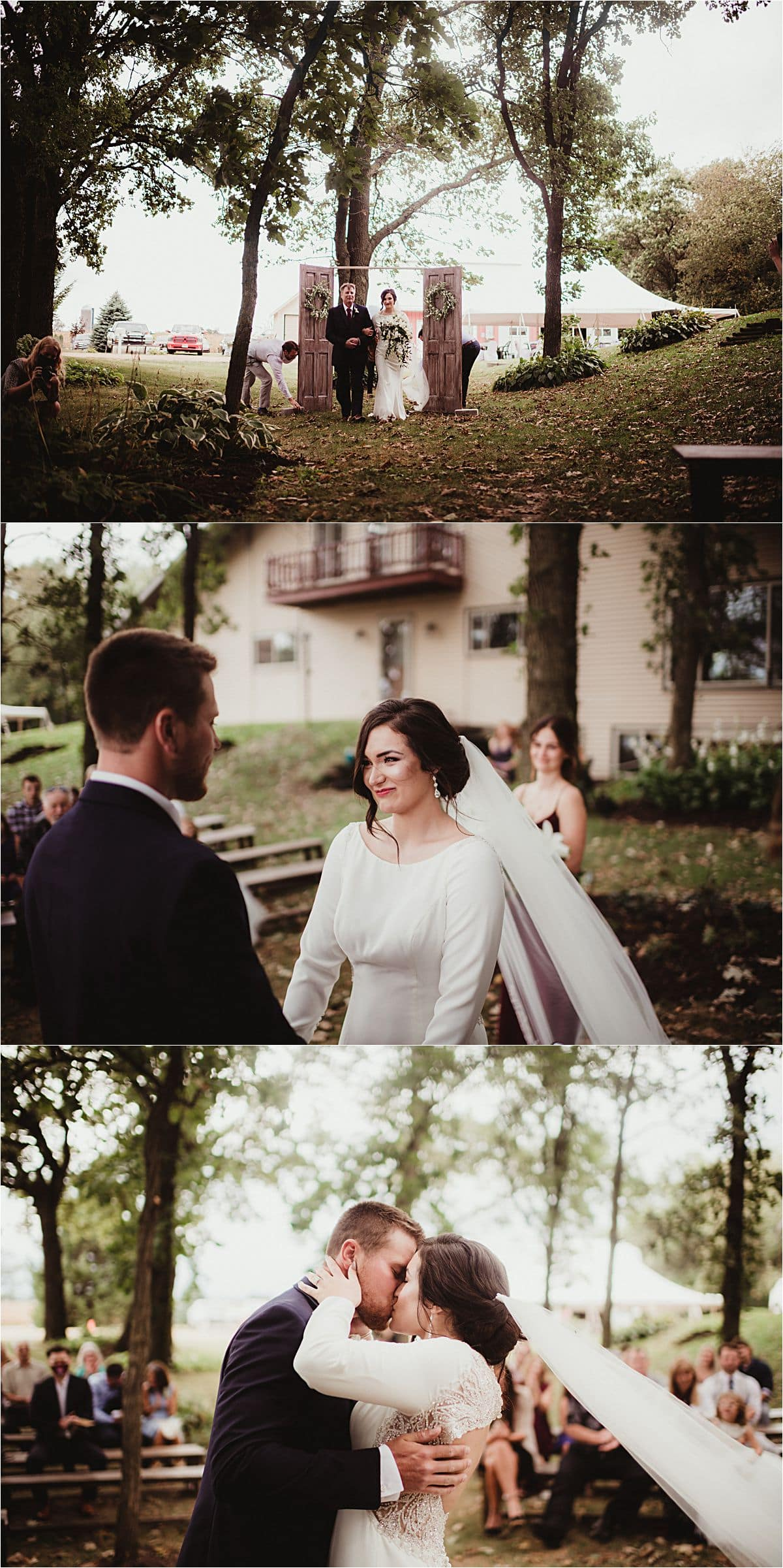 Private Residence Summer Wedding Outdoor Wedding Ceremony
