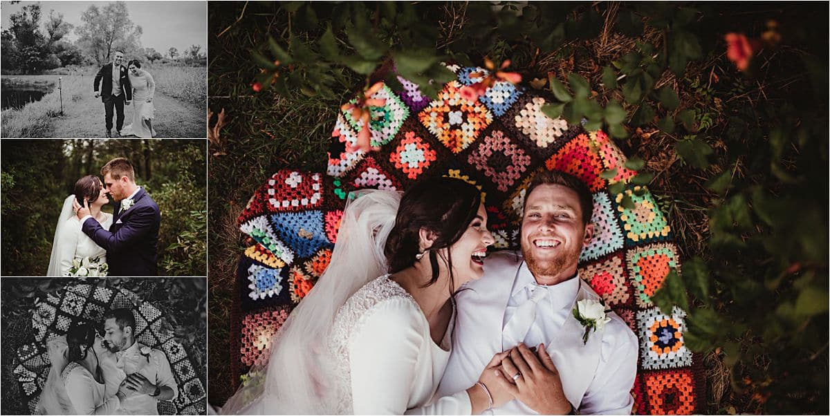 Bride Groom Snuggle Blanket