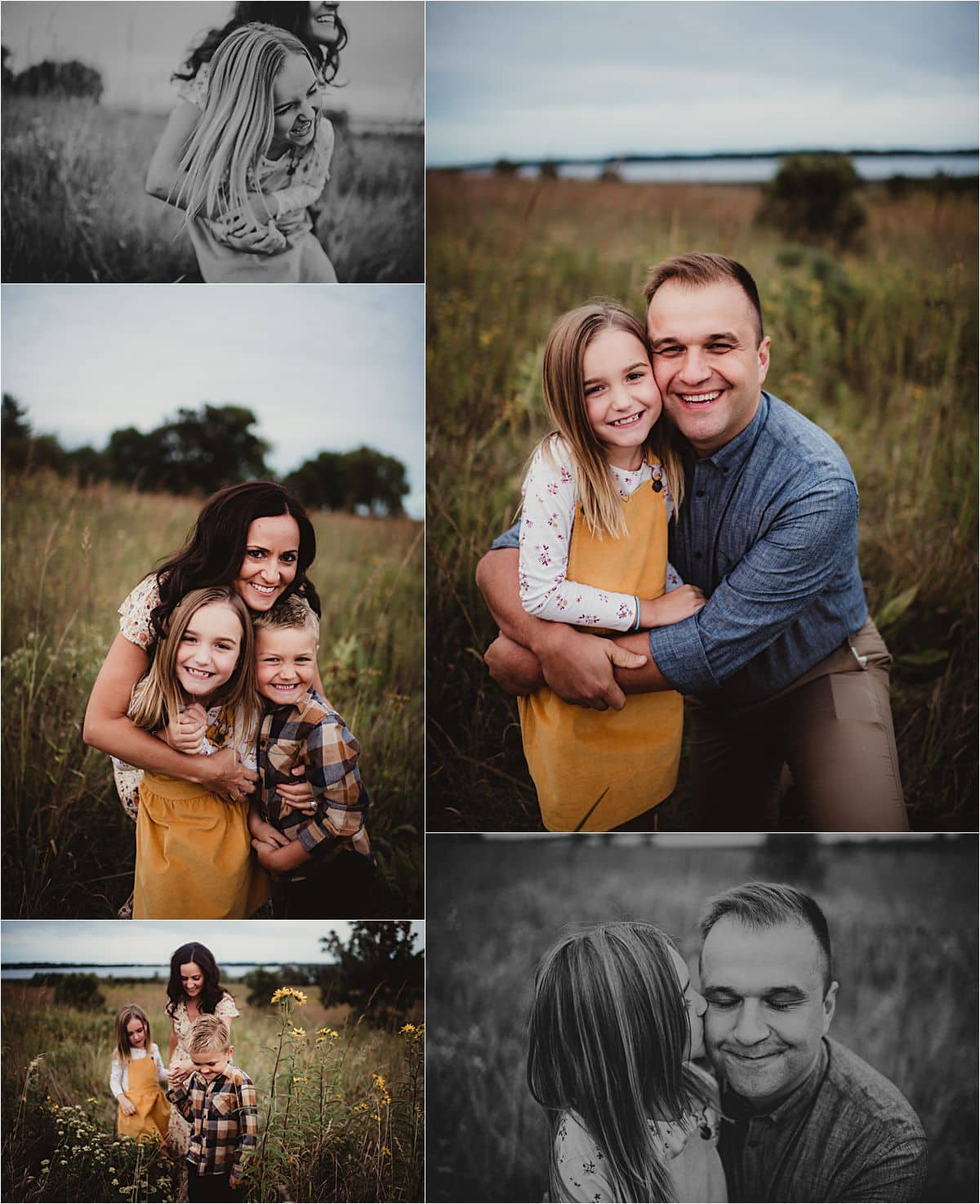 Prairie Park Family Session Family Snuggling