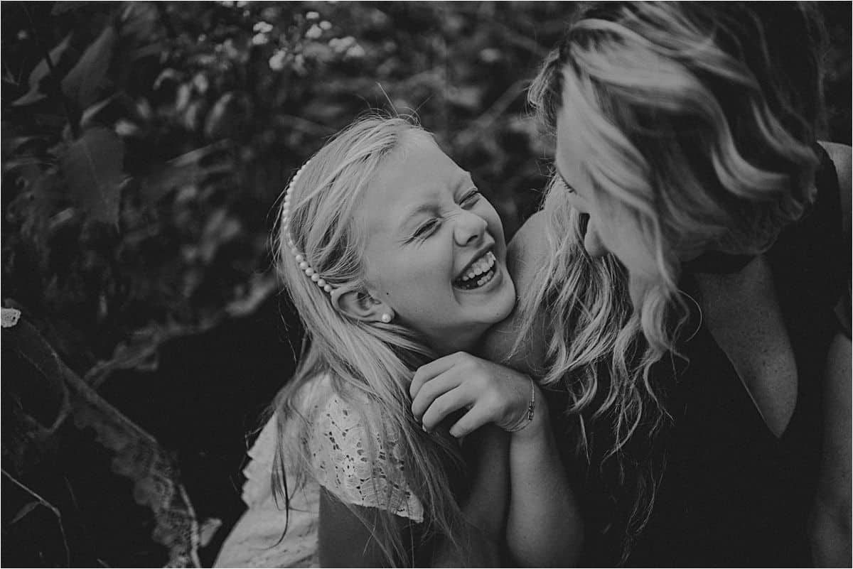 Mom and Daughter Laughing