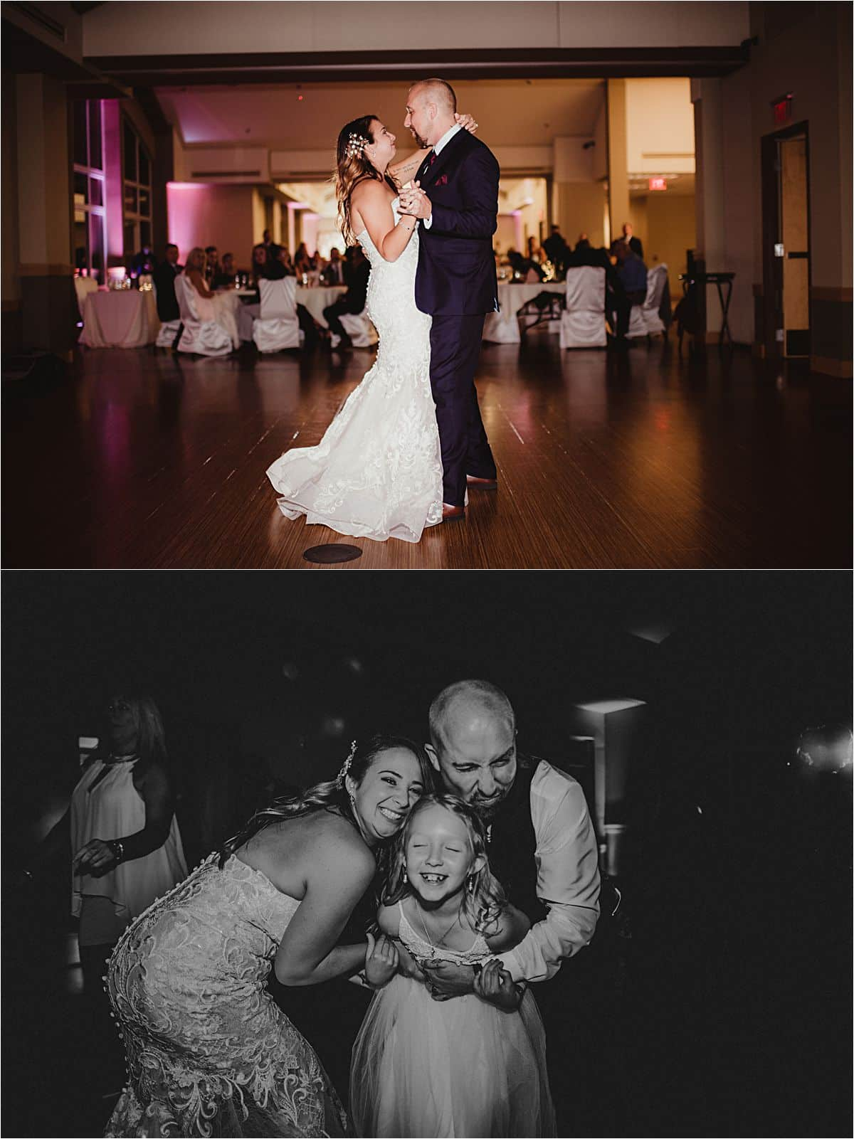Fall Waterfront Wedding First Dance