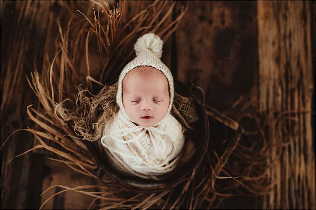 Newborn in White Hat