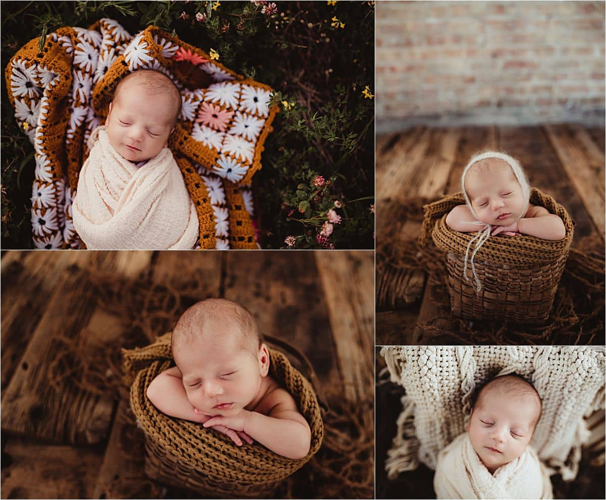 Collage Newborn in Wraps