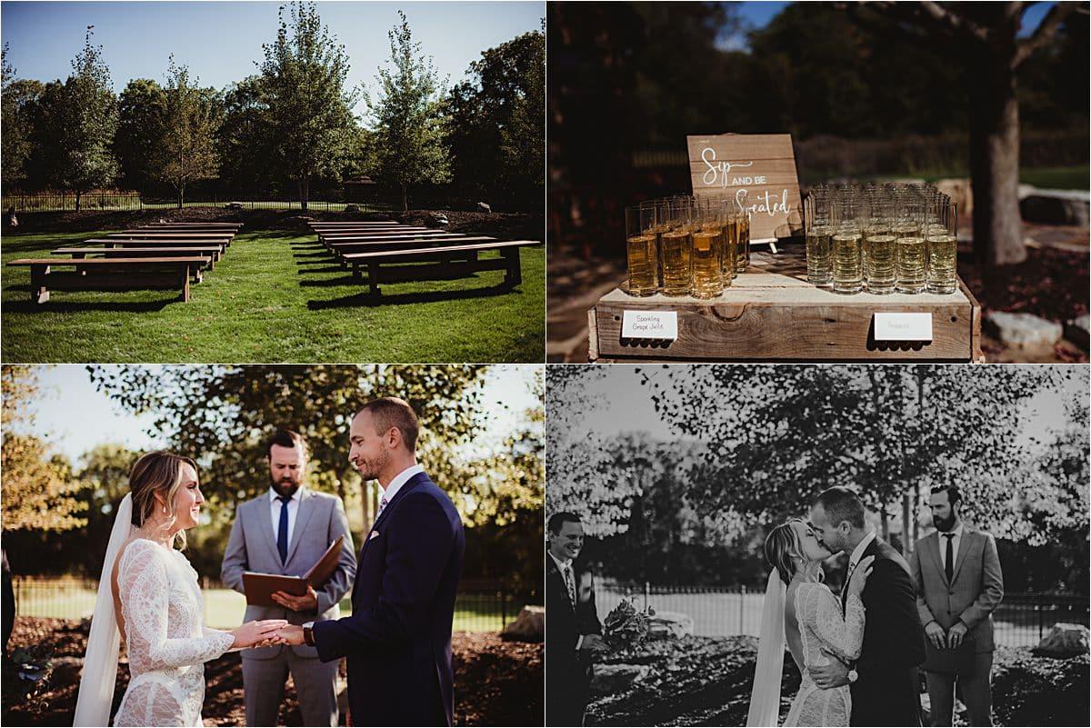 Romantic Backyard Fall Wedding Ceremony