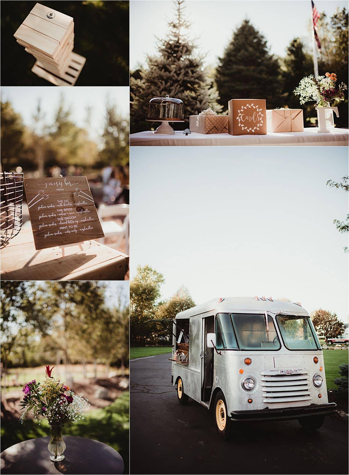 Romantic Backyard Fall Wedding Reception Details