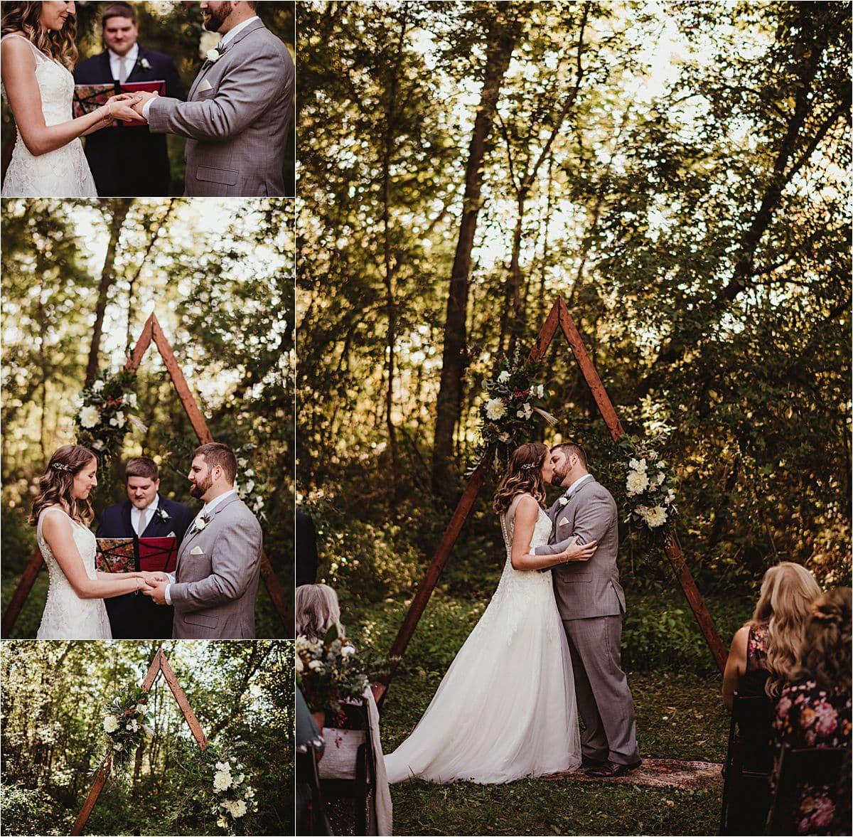 Intimate Fall Wedding Ceremony