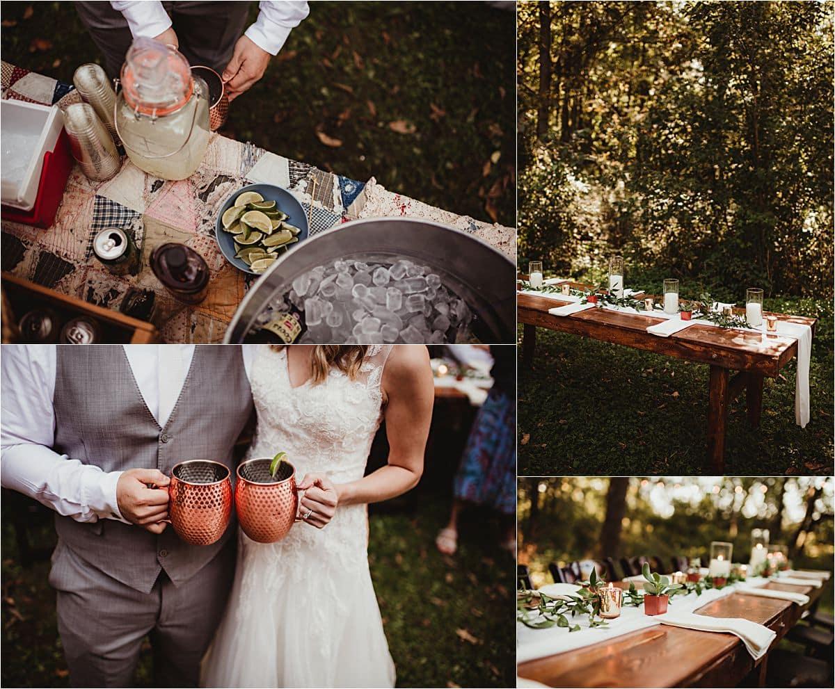 Intimate Fall Wedding Reception Details