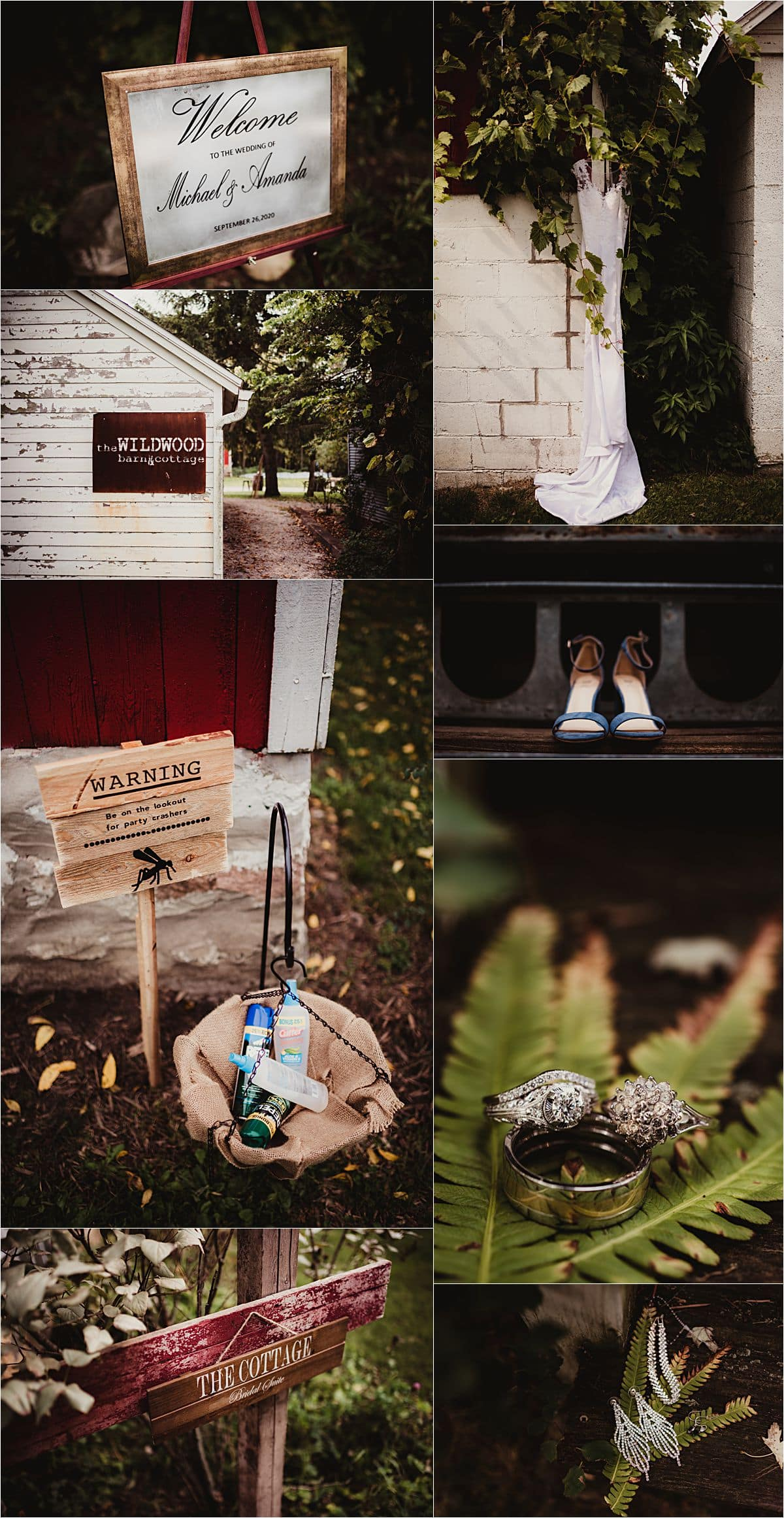 Romantic Rustic Wedding Getting Ready Details