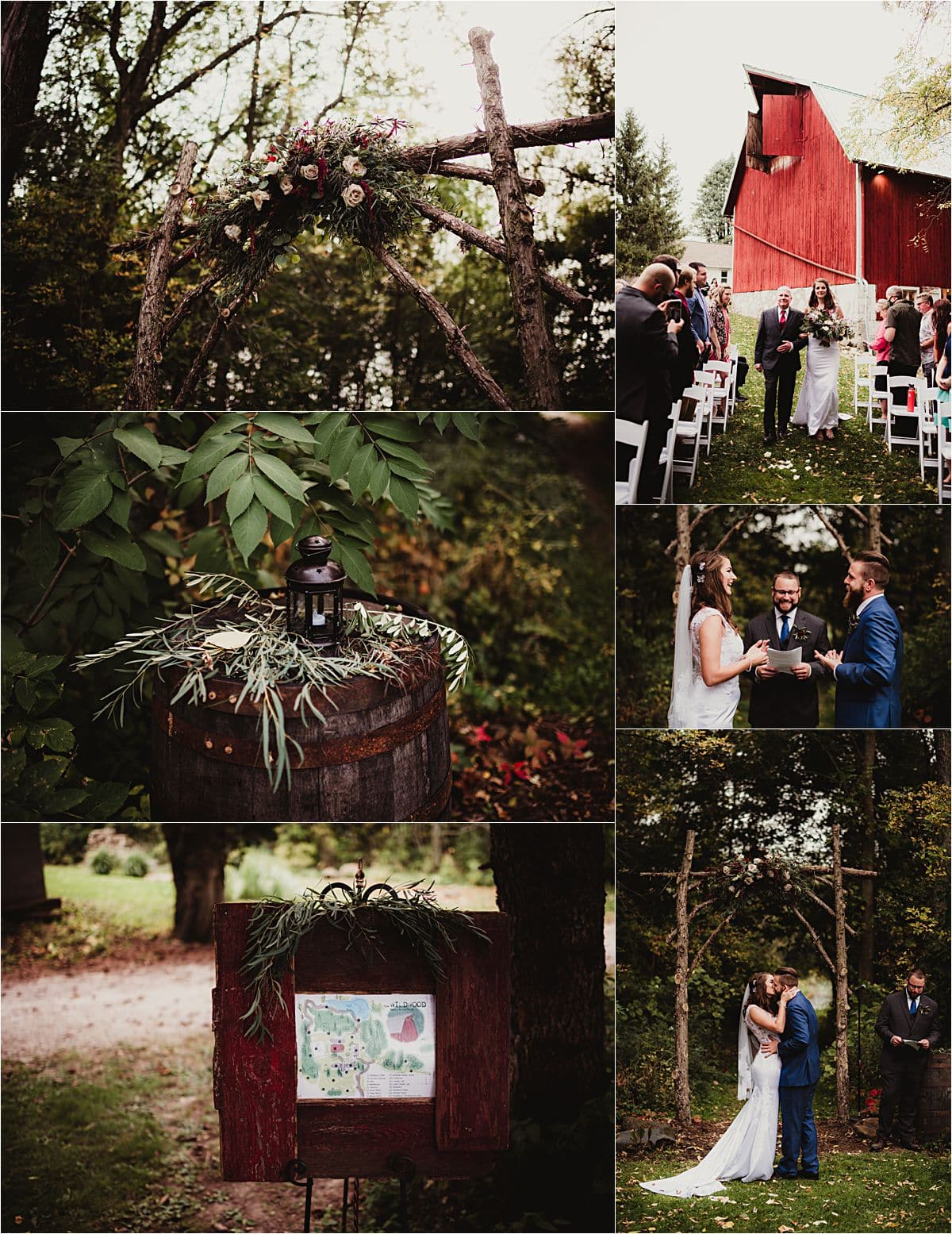 Romantic Rustic Wedding Ceremony