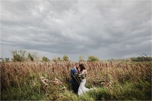 Bride Groom in Field