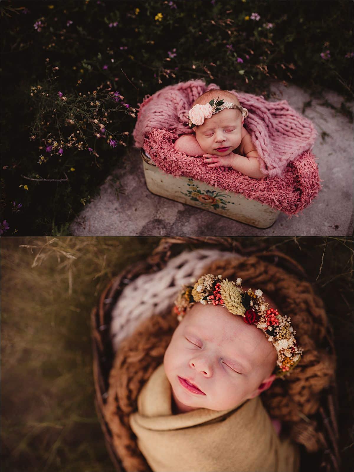 Newborn in Floral Crowns